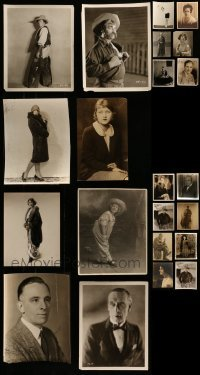 4m319 LOT OF 22 PORTRAIT 8X10 STILLS FROM SILENT MOVIES 1920s a variety of male & female stars!