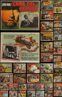 4m040 LOT OF 58 MEXICAN LOBBY CARDS 1950s-1960s scenes from a variety of different movies!