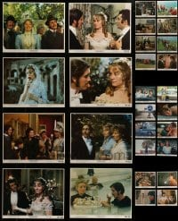 4m313 LOT OF 28 MINI LOBBY CARDS 1970s including three complete sets of 8 cards!