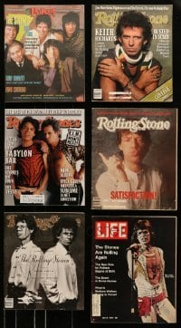 4m238 LOT OF 6 MAGAZINES WITH ROLLING STONES COVERS 1970s-1990s Mickey Jagger, Keith Richards!
