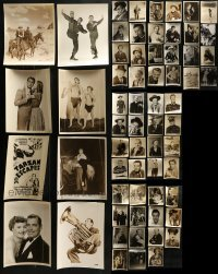4m285 LOT OF 63 8X10 STILLS 1940s-1950s great portraits of a variety of different stars!