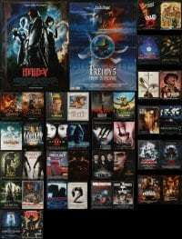 4m006 LOT OF 40 FORMERLY FOLDED HORROR/SCI-FI FRENCH POSTERS 1980s-2010s cool movie images!