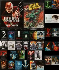 4m007 LOT OF 35 FORMERLY FOLDED HORROR/SCI-FI FRENCH POSTERS 1970s-2000s cool movie images!