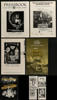 4m213 LOT OF 9 UNCUT PRESSBOOKS 1970s advertising for a variety of different movies!