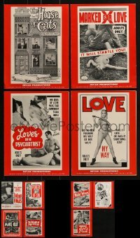 4m211 LOT OF 11 UNCUT MITAM SEXPLOITATION PRESSBOOKS 1960s advertising for sexy movies!