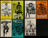 4m217 LOT OF 7 UNCUT BLAXPLOITATION PRESSBOOKS 1970s advertising for a variety of movies!