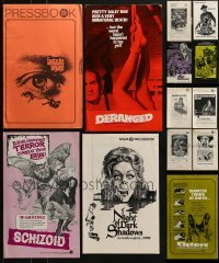 4m208 LOT OF 13 UNCUT HORROR/SCI-FI PRESSBOOKS 1970s advertising for a variety of movies!