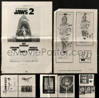4m219 LOT OF 8 UNCUT AD SLICKS 1970s advertising for a variety of different movies!