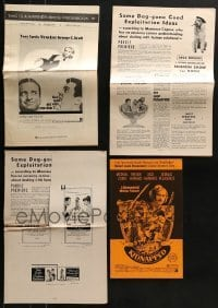 4m234 LOT OF 4 CUT PRESSBOOKS 1960s-1970s advertising for a variety of different movies!