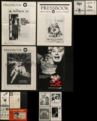 4m206 LOT OF 14 UNCUT PRESSBOOKS 1950s-1980s advertising for a variety of different movies!