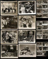 4m309 LOT OF 30 ROY ROGERS 8X10 STILLS 1940s-1950s great scenes from some of his movies!