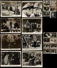4m320 LOT OF 22 GEORGE RAFT 8X10 STILLS 1940s-1950s great scenes from some of his movies!