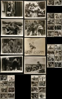 4m299 LOT OF 42 JOHNNY MACK BROWN 8X10 STILLS 1940s-1950s great scenes from several of his movies!