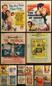 4m029 LOT OF 16 WINDOW CARDS 1950s images from a variety of movies!