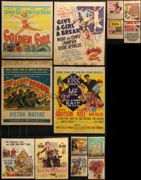 4m030 LOT OF 14 WINDOW CARDS 1950s images from a variety of movies!