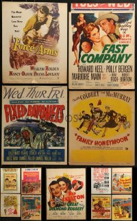 4m031 LOT OF 13 WINDOW CARDS 1950s images from a variety of movies!