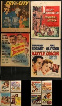 4m032 LOT OF 12 WINDOW CARDS 1940s-1950s great images from a variety of different movies!