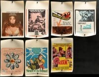 4m033 LOT OF 7 WINDOW CARDS 1960s great images from a variety of different movies!