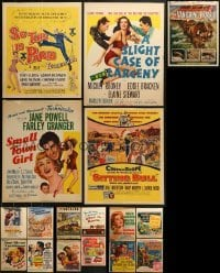 4m028 LOT OF 17 WINDOW CARDS 1950s images from a variety of movies!