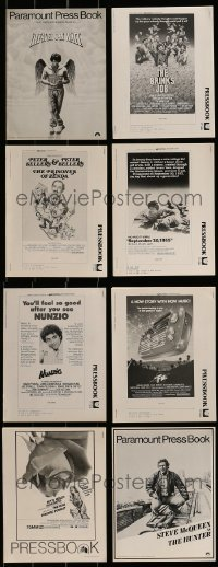 4m216 LOT OF 8 UNCUT PRESSBOOKS 1970s advertising for a variety of different movies!