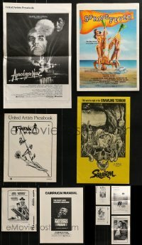 4m212 LOT OF 10 UNCUT PRESSBOOKS 1970s-1980s advertising for a variety of different movies!