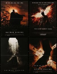 4m013 LOT OF 4 FORMERLY FOLDED 16x21 FRENCH POSTERS FROM BATMAN MOVIES 2000s Dark Knight Rises!