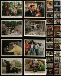 4m307 LOT OF 32 1950S COLOR 8X10 STILLS 1950s great scenes from a variety of different movies!