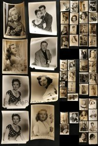 4m290 LOT OF 51 8X10 STILLS 1940s-1950s great portraits of a variety of different movie stars!