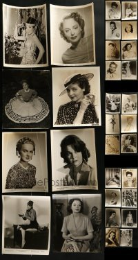 4m310 LOT OF 30 8X10 STILLS OF PRETTY LADIES 1940s-1950s leading & supporting actresses!
