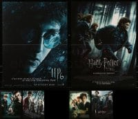 4m012 LOT OF 6 FORMERLY FOLDED 16X21 FRENCH POSTERS FROM HARRY POTTER MOVIES 2000s-2010s cool!