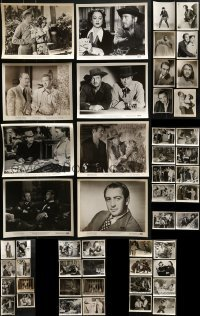 4m292 LOT OF 50 MACDONALD CAREY 8X10 STILLS 1940s-1960s great scenes from some of his movies!