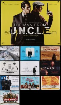 4m004 LOT OF 11 UNFOLDED MOSTLY DOUBLE-SIDED BRITISH QUADS 2010s a variety of movie images!