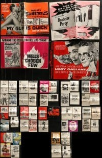 4m225 LOT OF 51 CUT PRESSBOOKS 1950s-1980s advertising for a variety of different movies!