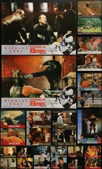 4m019 LOT OF 33 UNFOLDED 18X25 SPANISH POSTERS 1990s great scenes from a variety of movies!