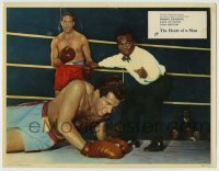 4p398 HEART OF A MAN English LC 1959 Frankie Vaughan in boxing ring about to be counted out!