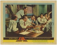 4p001 12 ANGRY MEN LC #5 1957 Henry Fonda stands over Lee J. Cobb & E.G. Marshall and most of jury!