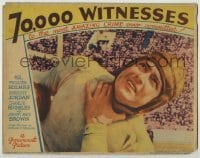4p005 70,000 WITNESSES LC 1932 star football quarterback Johnny Mack Brown killed in front of fans!