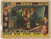 4p011 ADAM HAD FOUR SONS LC 1941 Richard Denning watches pretty Susan Hayward & Warner Baxter!