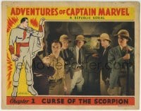 4p016 ADVENTURES OF CAPTAIN MARVEL chapter 1 LC 1941 great superhero border art, full-color, rare!