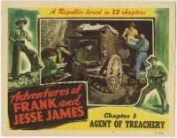 4p017 ADVENTURES OF FRANK & JESSE JAMES chapter 1 LC #6 1948 Clayton Moore stealing explosives!