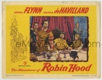 4p019 ADVENTURES OF ROBIN HOOD LC #2 R1948 Olivia De Havilland watches Rains restrain Rathbone!