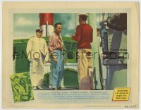 4p025 AFRICAN QUEEN LC #6 1952 colorful image of Humphrey Bogart about to be hanged!