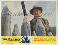 4p027 ALAMO LC #5 R1967 close up of Richard Widmark with big gun in the Texas War of Independence!
