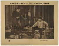 4p029 ALIAS JULIUS CAESAR LC 1922 wacky Charles Ray tells his cellmate he's a stick-up man!