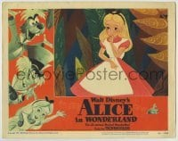 4p031 ALICE IN WONDERLAND LC #7 1951 Walt Disney cartoon classic, best close up of Alice!