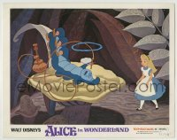 4p030 ALICE IN WONDERLAND LC R1974 Disney cartoon classic, she meets the smoking caterpillar!