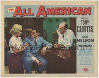 4p033 ALL AMERICAN LC #2 1953 bartender watches Tony Curtis & sexy blonde Mamie Van Doren!