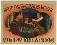 4p034 ALL THIS & HEAVEN TOO LC 1940 Bette Davis watches Boyer stop O'Neil from taking his baby!