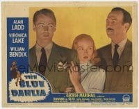 4p101 BLUE DAHLIA LC #2 1946 close portrait of Veronica Lake between Alan Ladd & Howard da Silva!