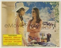 4p102 BOB & CAROL & TED & ALICE LC #1 1969 sexy Natalie Wood in bikini talks to Dyan Cannon!